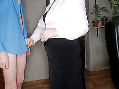 Amateur, Milf, bbw, big-ass, old-and-young, secretary, stockings
