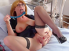 Mature, Masturbation, Milf, Big Tits, Fingering, Lingerie, Solo Female, Stockings, Toys