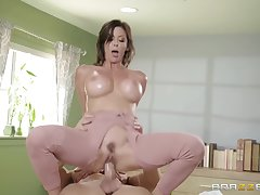 Milf, POV, Handjob, big-tits, brunette, hd, hairy, old-and-young