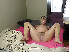 Amateur, Blonde, Masturbation, Milf, big-ass, big-tits, hd, pregnant, solo-female
