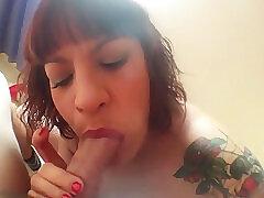 Amateur, Mature, Big Cock, Cumshot, Milf, POV, Cum, Cock, Brunette, Cum In Mouth, Deepthroat, Facial, Italian, Stockings, Tattoo