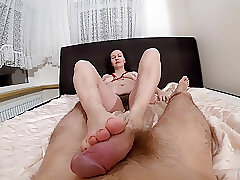 Amateur, Fetish, Milf, POV, Brunette, Foot Fetish, Footjob, HD