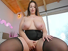 Amateur, Milf, Webcam, BBW, Big Tits, Brunette, Solo Female, Stockings, Toys