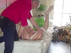 Mature, Milf, Small Tits, Couple, European, Fingering, Lingerie, Stockings