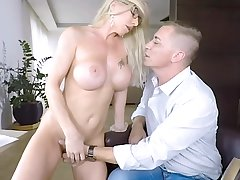 Seduced Away from Simmering Milf Bus - Lara De Santis