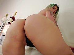 Milf, Big Ass, Big Tits, HD, Lingerie, Solo Female, Tattoo