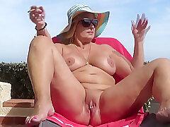 Milf, Big Tits, European, Outdoor, Smoking, Solo Female