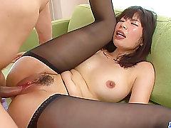Asian, Cunnilingus, Fingering, HD, Hairy, Japanese, Lingerie