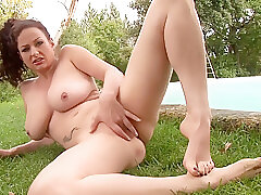 Amateur, Fetish, Milf, Big Ass, Big Tits, Brunette, Foot Fetish, HD, Outdoor, Solo Female