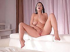 Amateur, Fetish, Milf, Webcam, Big Tits, Brunette, Foot Fetish, HD, Solo Female, Stockings