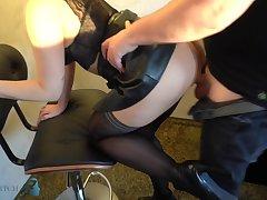Amateur, Cumshot, Milf, Webcam, Cum, Brunette, Secretary, Stockings, Striptease