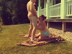 Missy Coupled with George In one's birthday suit - Blowjob Primarily Edict Meadow