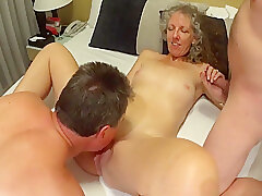 Amateur, Blondes, Milf, Small Tits, Threesome, Handjob, Creampie, European