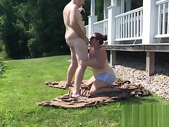 Amateur, Blowjob, Cumshot, Milf, Cum, BBW, Couple, Facial, HD, Outdoor, Public