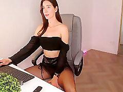 Amateur, Milf, Webcam, Brunette, Lingerie, Solo Female, Stockings