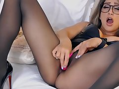 Amateur, Milf, Webcam, High Heels, Lingerie, Solo Female, Stockings, Toys