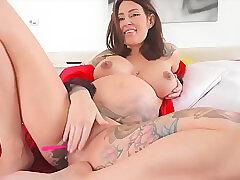 Amateur, Milf, POV, Webcam, Big Tits, Brunette, Fingering, Pregnant, Solo Female, Tattoo, Toys