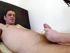 Amateur, Fetish, Milf, Handjob, Brunette, Couple, Foot Fetish, HD