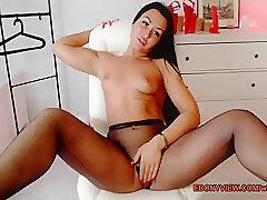 Amateur, Milf, Webcam, Brunette, Latina, Solo Female, Stockings