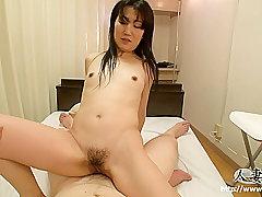 Amateur, Asian, POV, Brunette, HD, Hairy, Japanese