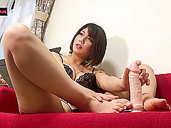 Amateur, Asian, Fetish, Teens, Dildo, Brunette, Foot Fetish, HD, Japanese