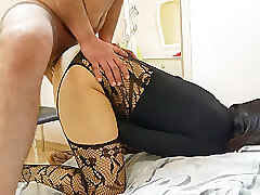 Amateur, Big Cock, Milf, Cock, Brunette, HD, Hairy, Stockings