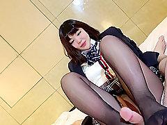 Asian, Fetish, POV, Brunette, Foot Fetish, HD, Japanese