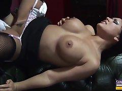 Big Cock, Cumshot, Milf, Handjob, Cum, Cock, Big Tits, Brunette, Deepthroat, Facial, Secretary, Stockings