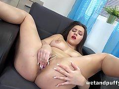 Milf, Big Tits, Brunette, HD, Solo Female, Toys