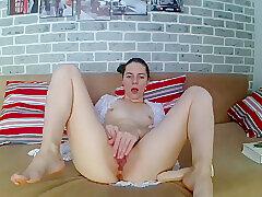 Amateur, Milf, Small Tits, Webcam, Big Ass, Brunette, HD, Solo Female, Toys