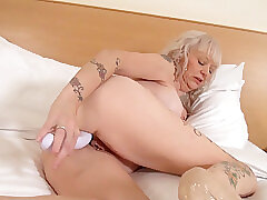 Mature, Fetish, Milf, Granny, Lingerie, Solo Female, Toys