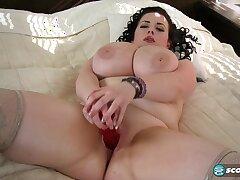 Milf, BBW, Big Ass, Big Tits, Brunette, HD, Solo Female, Stockings