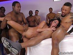 Anal, Big Cock, Milf, Group Sex, Cock, Sex, Brunette, Deepthroat, HD, Hairy, Interracial
