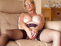 Blondes, Milf, American, Big Tits, Solo Female, Stockings, Toys