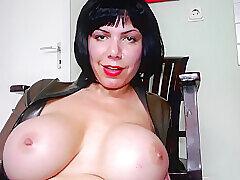 Amateur, Milf, Webcam, Big Tits, Brunette, German, HD, Latex, Solo Female