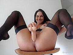 Amateur, Fetish, Milf, Webcam, Brunette, Foot Fetish, HD, Solo Female, Stockings, Toys