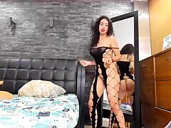 Amateur, Milf, Webcam, Big Tits, Brunette, HD, Latex, Solo Female, Stockings