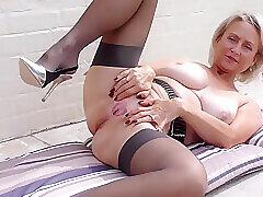Mature, Blowjob, Fetish, Milf, Big Tits, Couple, Lingerie, Stockings, Toys
