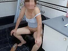 Amateur, Fetish, Milf, Brunette, HD, Hairy, Pissing, Solo Female
