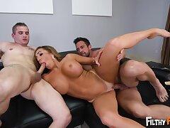 Big Cock, Blondes, Cumshot, Milf, Threesome, Cum, Cock, Big Tits, Deepthroat, HD, Old and Young, Step Fantasy