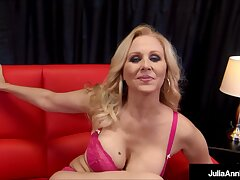 Gaffer Milf Julia Ann Drains A Serendipitous Everlasting Flannel Round A Blowjob With the addition of A Handjob!