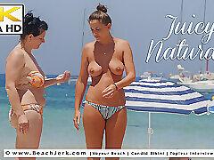 Milf, Beach, Big Tits, Brunette, Outdoor, Voyeur