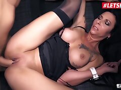 Big Cock, Milf, Handjob, Cock, Big Ass, Big Tits, Brunette, Car, Deepthroat, HD, Stockings