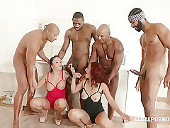 4 Grossi Cazzi Neri Exclusively Per Noi In all directions Interracial Gangbang Coupled with Dana Santo