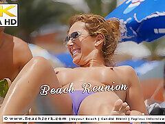 Milf, Beach, Big Ass, Big Tits, Brunette, Outdoor, Voyeur