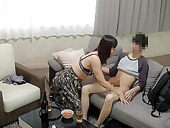 Amateur, Asian, Milf, Handjob, Brunette, Deepthroat, HD, Hairy, Japanese, Old and Young, Stockings