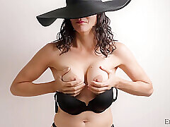 Amateur, Milf, Brunette, HD, Hairy, Solo Female, Squirt, Toys
