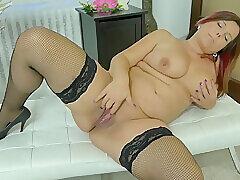 Amateur, Mature, Milf, Big Tits, Brunette, HD, Solo Female, Stockings