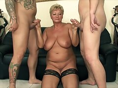 Anal, Big Cock, Blondes, Cumshot, Double Penetration, Milf, Threesome, Handjob, Cum, Cock, Big Tits, Deepthroat, HD, Stockings