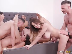 Big Cock, Milf, Group Sex, Cock, Sex, Big Tits, Brunette, Deepthroat, HD